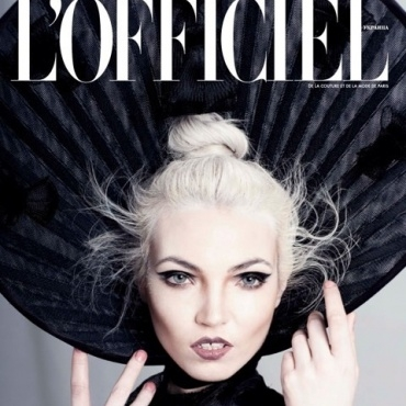 CHRISTIE LEIGH for L'Officiel Magazine- cover and editorial